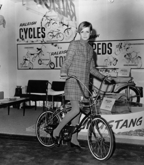 Twiggy On A Bike
