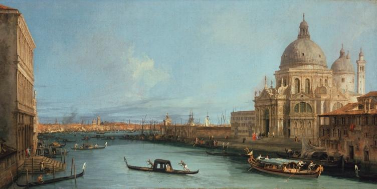Gemälde / Öl auf Leinwand (vor 1730) von Giovanni Antonio Canal (gen. Canaletto) [1697 - 1768] Bildmaß 46,7 x 90,9 cm Inventar-Nr.: 1653 Systematik: Geographie / Europa / Italien / Orte / Venedig / Kirchen