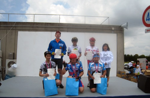 0707 Hitachi Naka Race Podium yy all 3